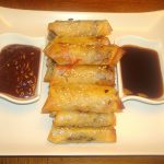 Confit of Duck Spring Rolls made with Brick Pastry