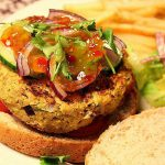 Chickpea & Coriander Burgers with Sweet Chilli Sauce