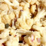 Cauliflower Vinaigrette with Capers & Red Onion