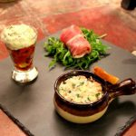 3 Cold Tapas: Salmon Rillette, Verrine of Ratatouille & Goats Cheese, Bayonne Ham Fig & Roquefort Parcel