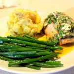 Salmon with Sauce Vinaigrette a L'Oeuf