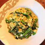 Asparagus, Courgette, Pea, Feta & Herb Couscous