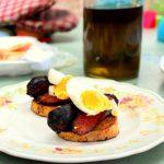 Chorizo, Sweet Poatato & Egg Pintxos