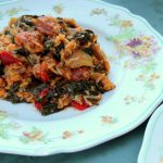 Slow Cooked Chorizo & Spinach Pilaf