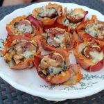 Warm Fig, Roquefort & Walnut Proscuitto Cups