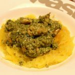 Spaghetti Squash with Walnut Pesto & Chicken