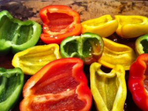 Cut Peppers
