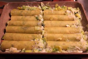 Cannelloni with Leeks & Brie - uncooked