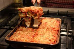Cannelloni with Leeks & Brie