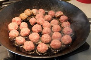 Frying Swedish Meatballs
