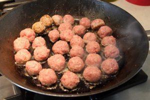 Frying Swedish Meatballs