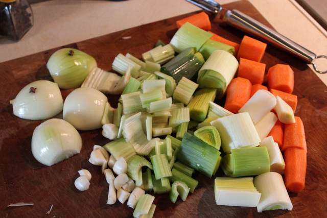 vegetables for pot-au-feu