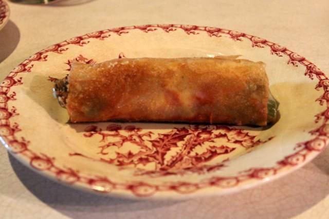 Crispy brick pastry asparagus camembert parcels