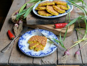 Wild Garlic and Chilli Sweetcorn Fritters by Lavender & Lovage