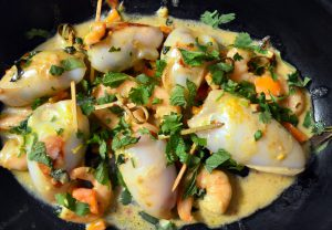 Prawn Stuffed Squid by Franglais Kitchen