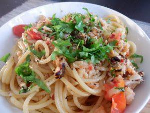 Seafood Spaghetti by Leeks & Limoni