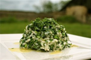 Nettle & Wils Garlic Risotto by Chez Foti