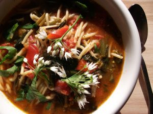 Minestrone Wild Garlic Soup by Chip Butties and Noodle Soup