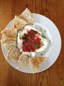 Red Pepper Pesto & Ricotta Dip