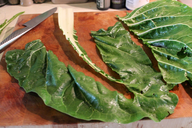 Prepping Swiss Chard