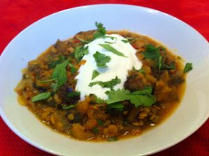 Lentil & Aubergine Curry