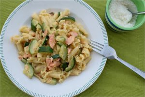 Smoked Salmon Courgette Carbonara