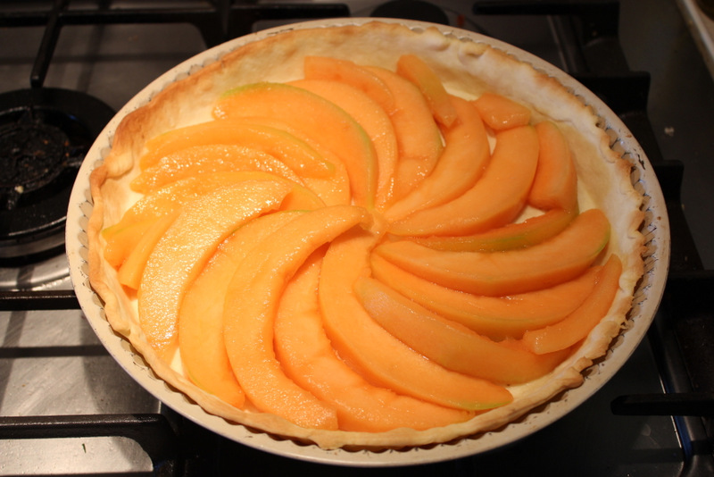 Melon in tart case