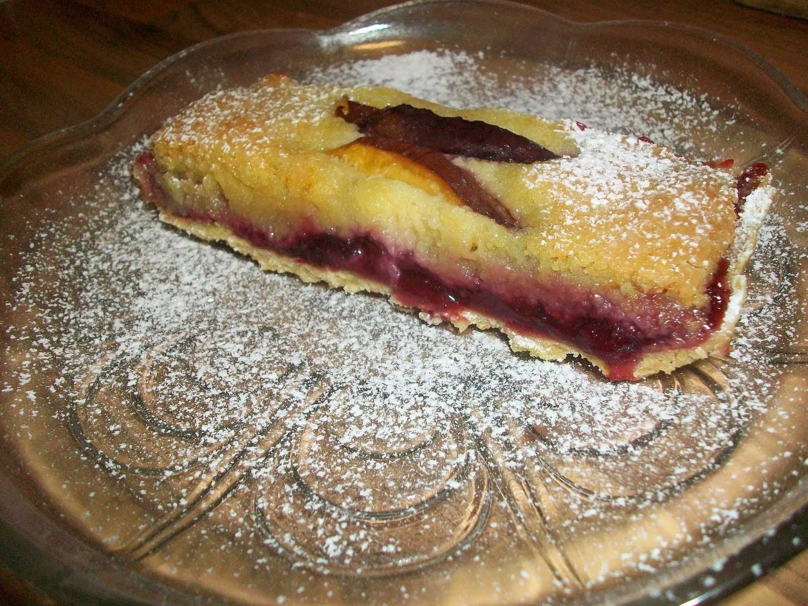 ... plum compote combining beautifully with sweet soft frangipane. Yum
