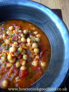 Moroccan Style Chickpea & Tomato Soup