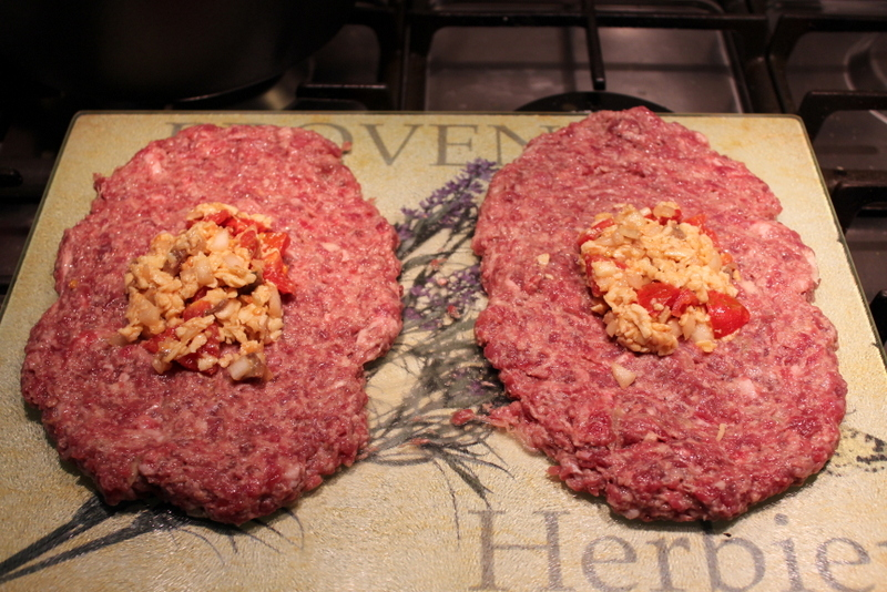 Meatloaf Meatballs with stuffing