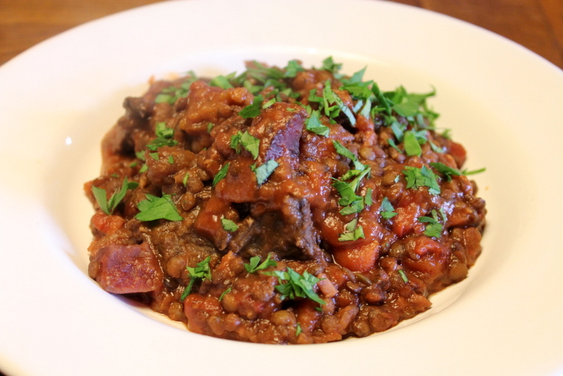 Beef & Lentil Stew with Beetroot