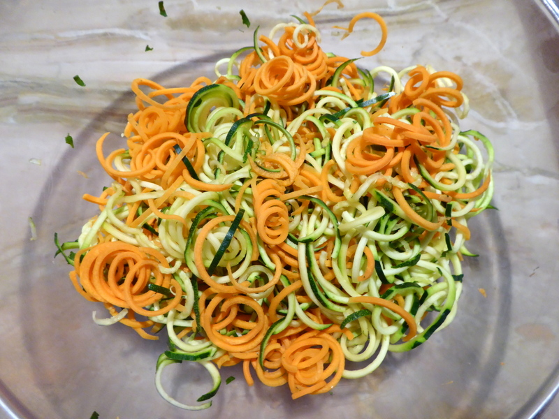 Spiralized Carrots & Courgettes