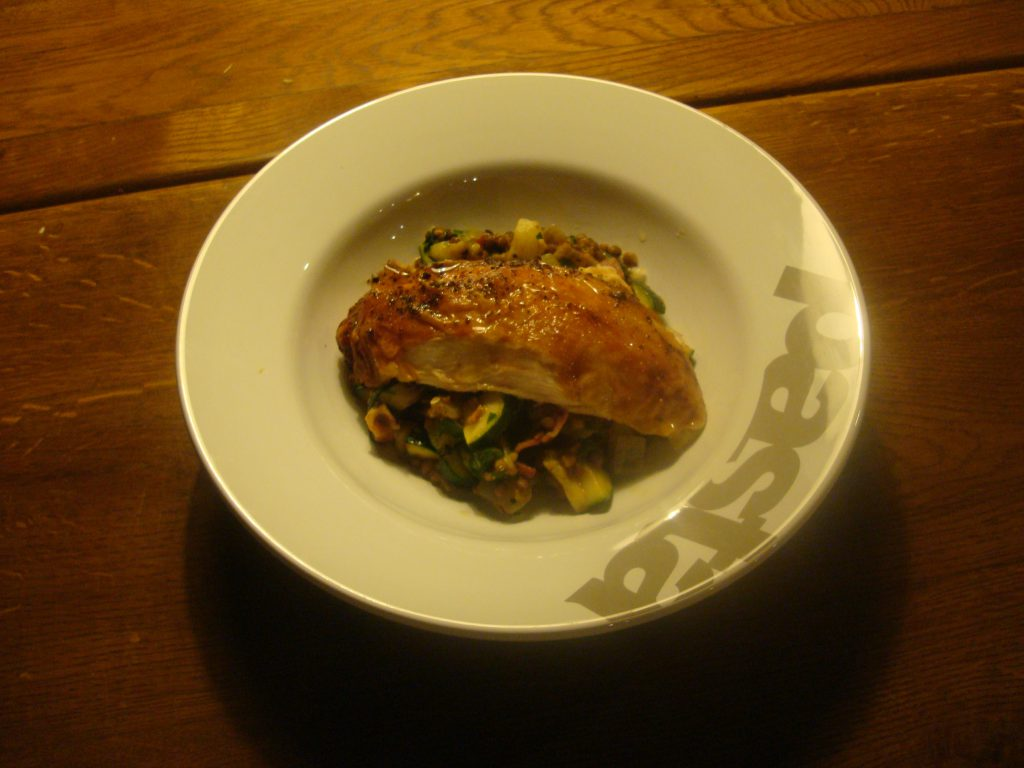 Roast Chicken and Lentils