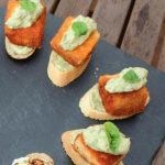 Salmon Croquette with Spicy Avocado Mayonnaise