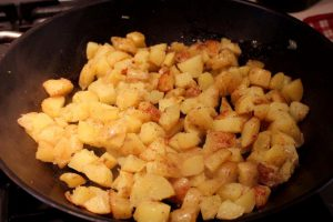 Warm Poatato & Apple Salad with Black Pudding