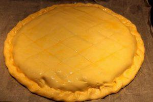 Croustade de Canard ready for oven - duck pie