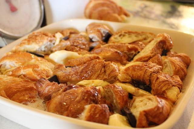 Chocolate & Banana Croissant Bread and Butter Pudding 1
