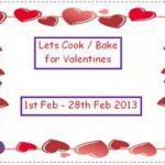 Let's Cook / Bake For Valentines Logo
