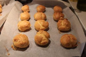 Baked Choux Pastry Buns