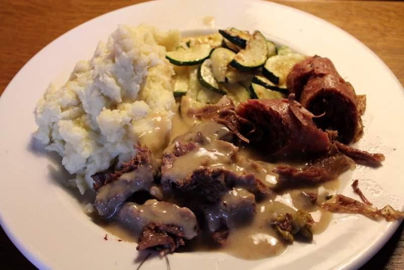 Pot-au-feu beef & saucisson served with creamy sauce
