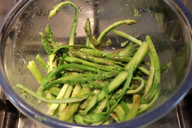 Asparagus ribbons