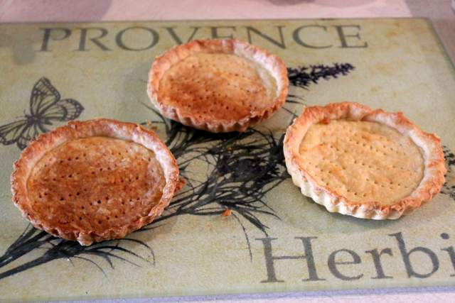 Parmesan pastry cases