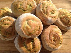 Wild Garlic Pin Wheels by Foodie Equine