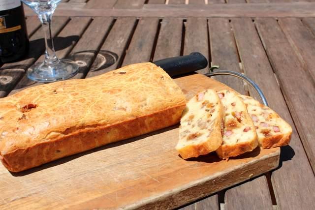 Savory Cake with Lardons, Figs & Walnuts