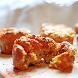 Cheesy Courgette Muffine