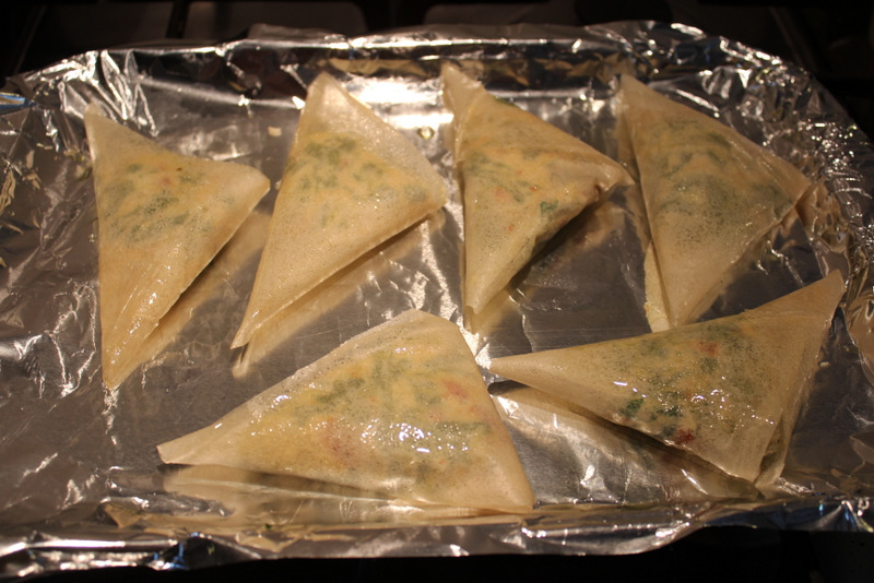 Chard & Ricotta Parcels ready to bake