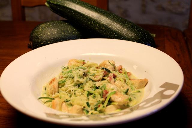 Courgette Noodle Carbonara