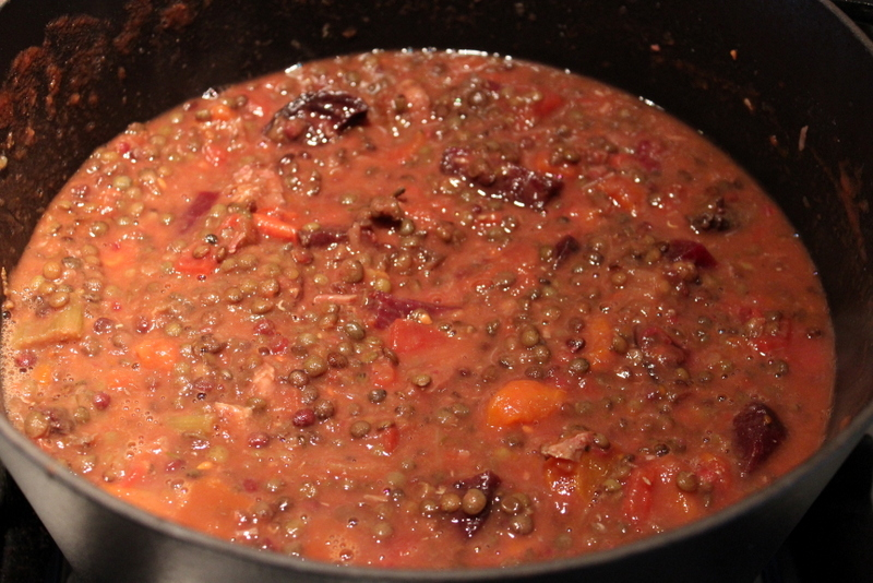 Beef Cheeks & Lentil Stew with sauce