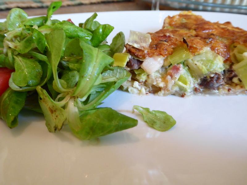 slice of quiche gascon