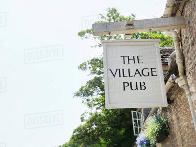 village pub sign